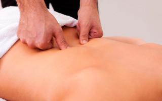 Как делать массаж поясничного отдела позвоночника?