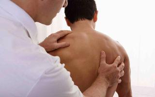 Причины болей в спине в области лопаток и их лечение