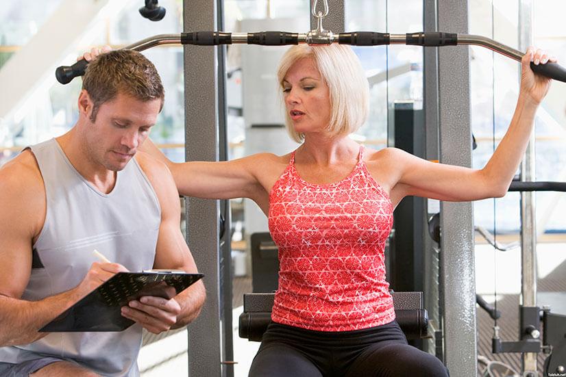 Комплекс упражнений для спины в тренажерном зале